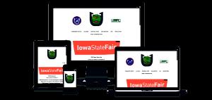 The Iowa Hawkeye Horseshoe Pitchers Association website on multiple screen sizes