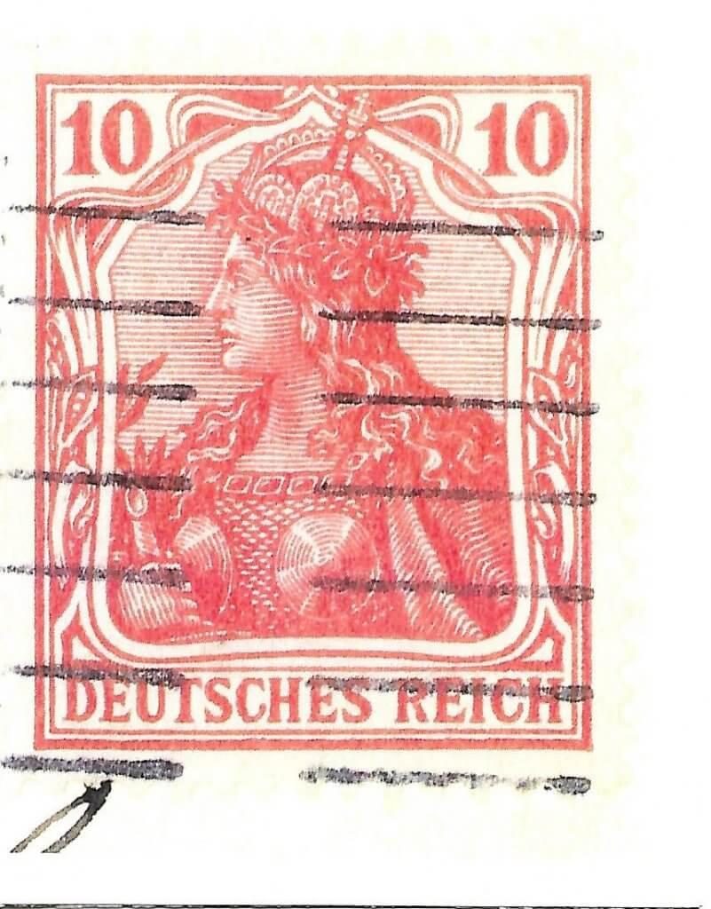 Card featuring stamp from the Deutsches Reich