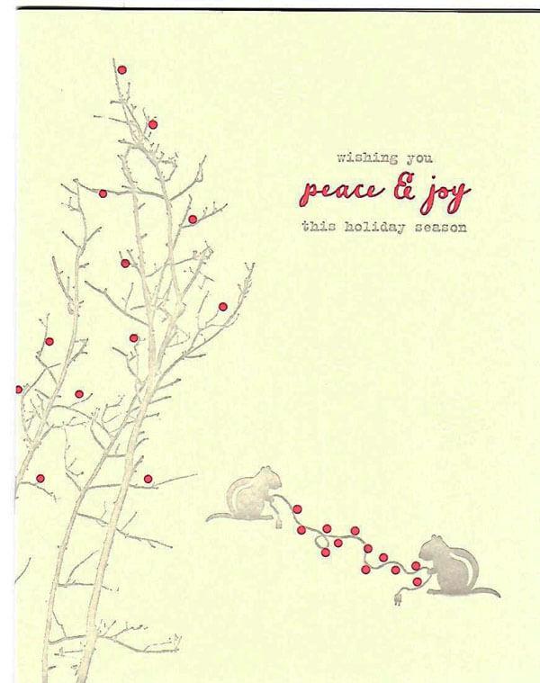 Peace and joy card from Lark Press