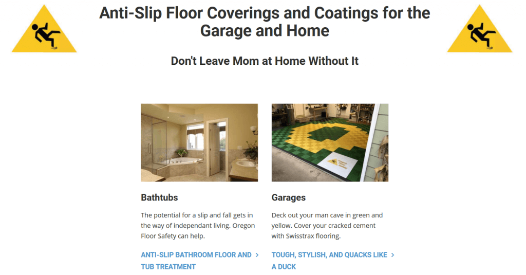 Oregon Floor Safety's residential services