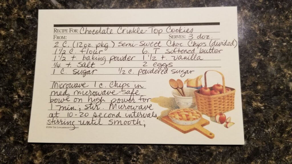 Recipe for Chocolate Crinkle Cookies