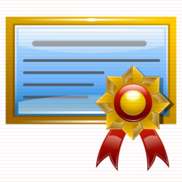 Windows certificate icon
