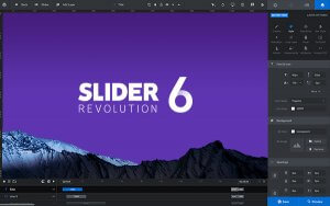 Slider Revolution demo screen
