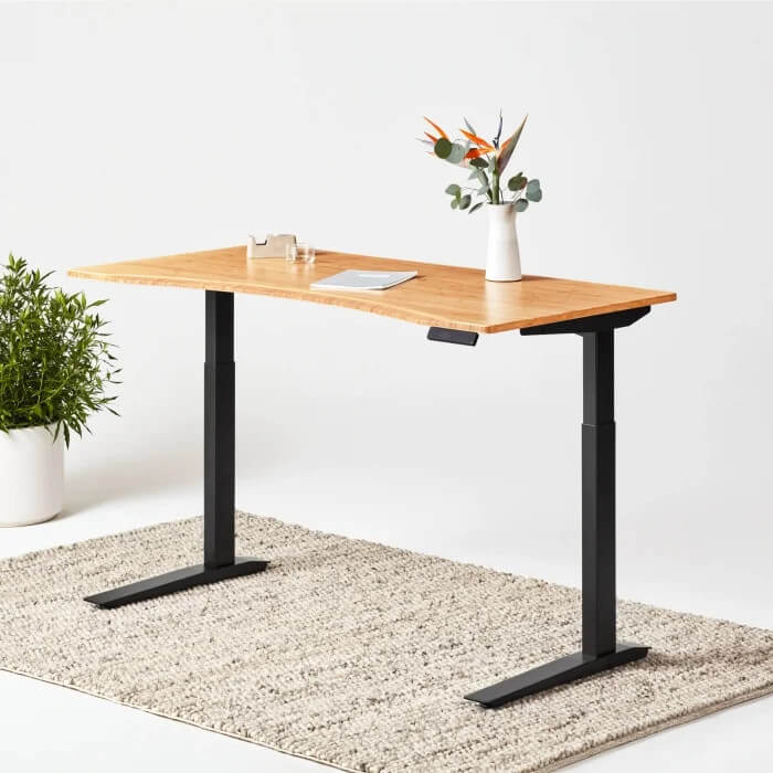 Jarvis bamboo-top standing desk from Fully